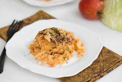 Lazy Cabbage Rolls on a plate
