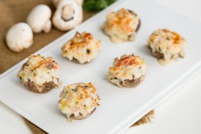 seafood stuffed mushrooms with crab