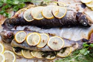 Lemon-herb Baked Trout