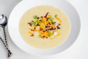 Creamy Potato Soup in a bowl