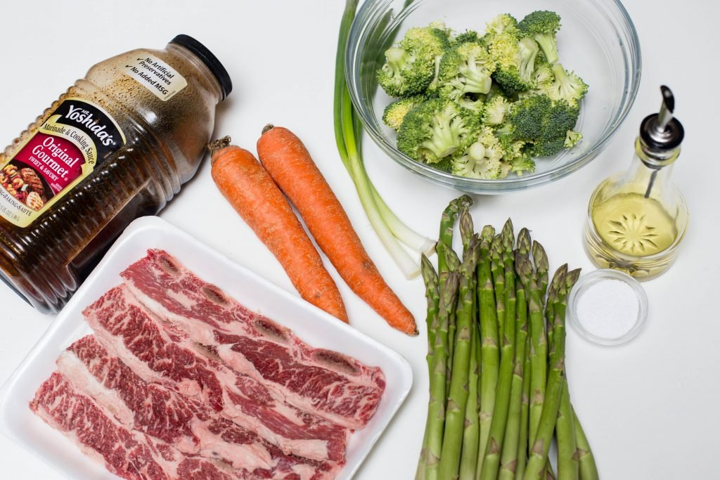 ingredients for beef stir fry