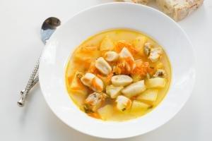 Chicken Dumpling Soup in a bowl