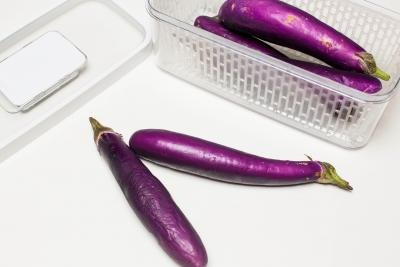 Eggplant on the table