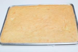 Dough on a baking pan
