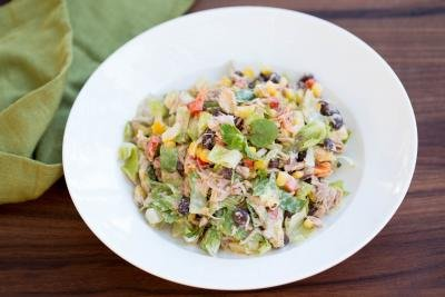 Mexican Tuna Salad in a plate