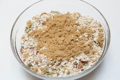 All Coconut Granola ingredients in a bowl
