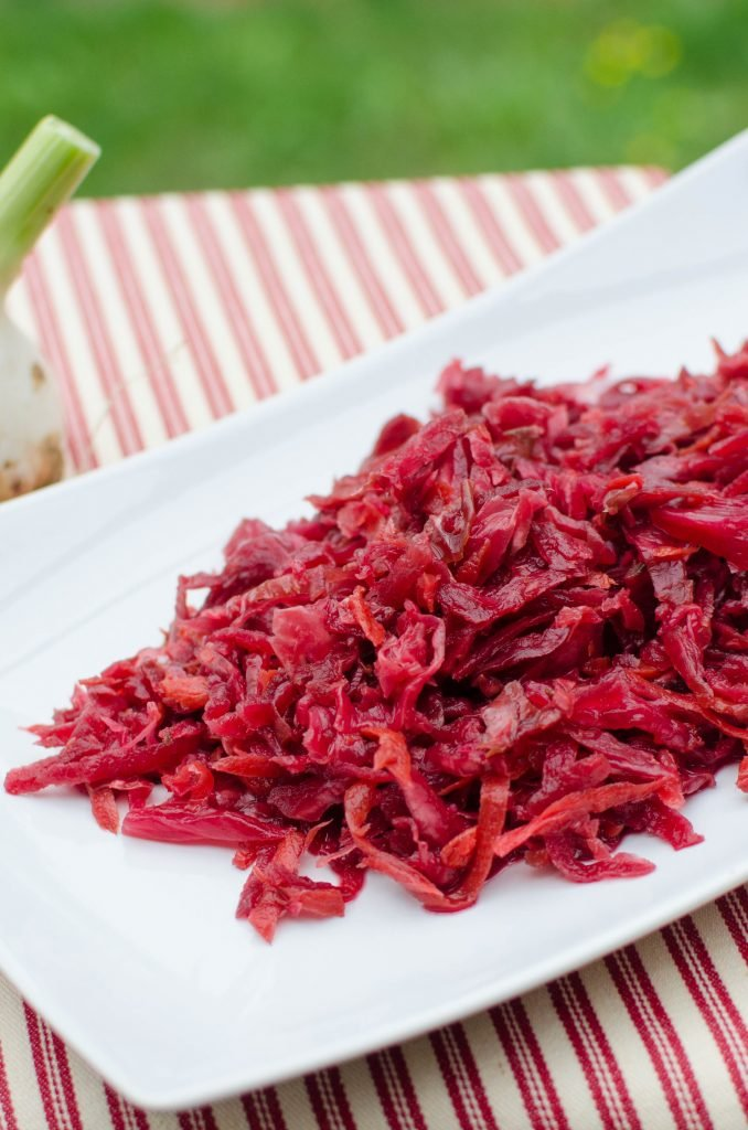 Pickled Cabbage and Beets