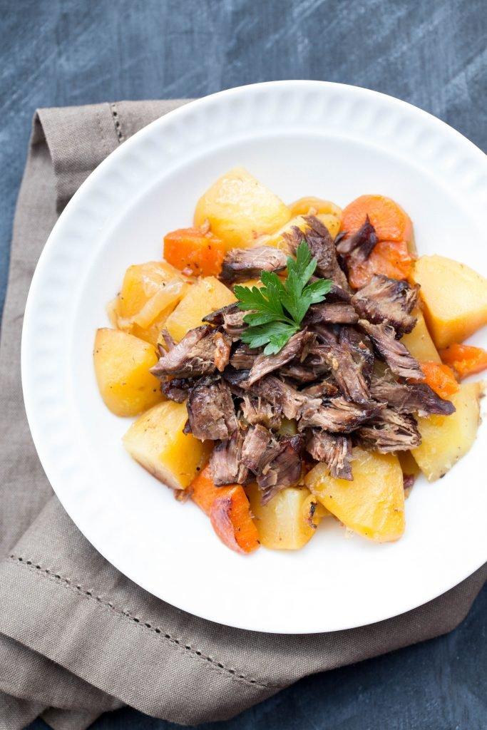 Beef Veggie Roast on a plate