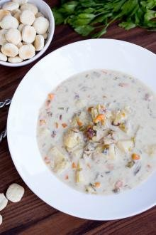 Easy Clam Chowder in a bowl