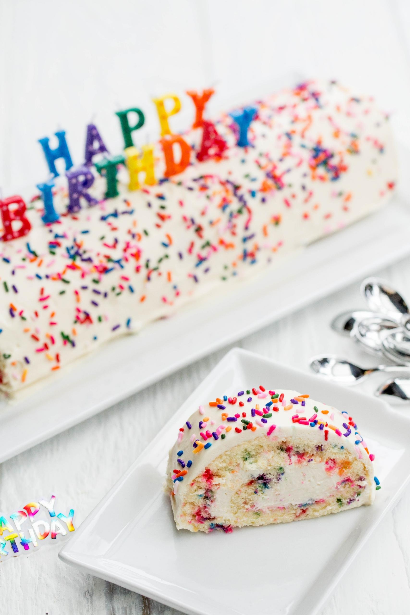 Astonishing Easy Birthday Cake Roulade Recipe Momsdish Personalised Birthday Cards Paralily Jamesorg