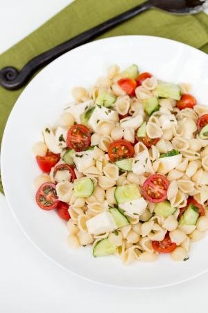 Mozzarella Pasta Salad on a plate