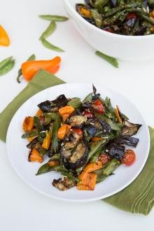 Roasted Vegetable Salad on a plate