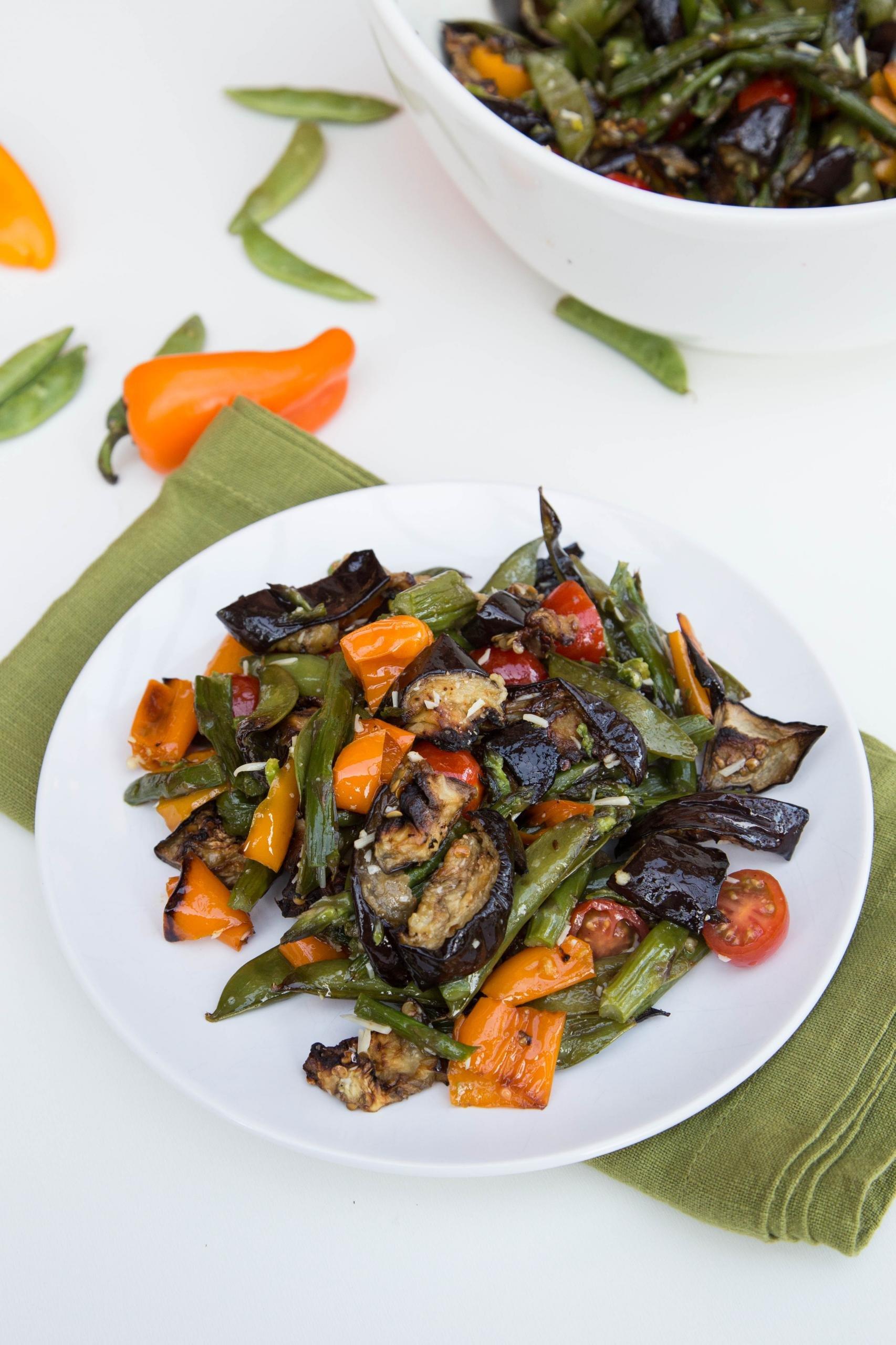 Roasted Vegetable Salad on a plate