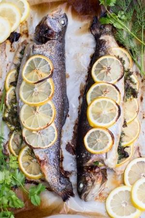 Lemon-herb Baked Trout