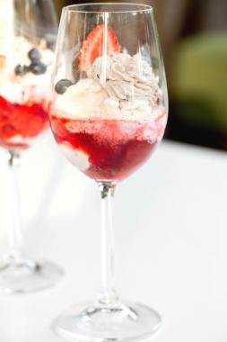 Sundae in a wine glass