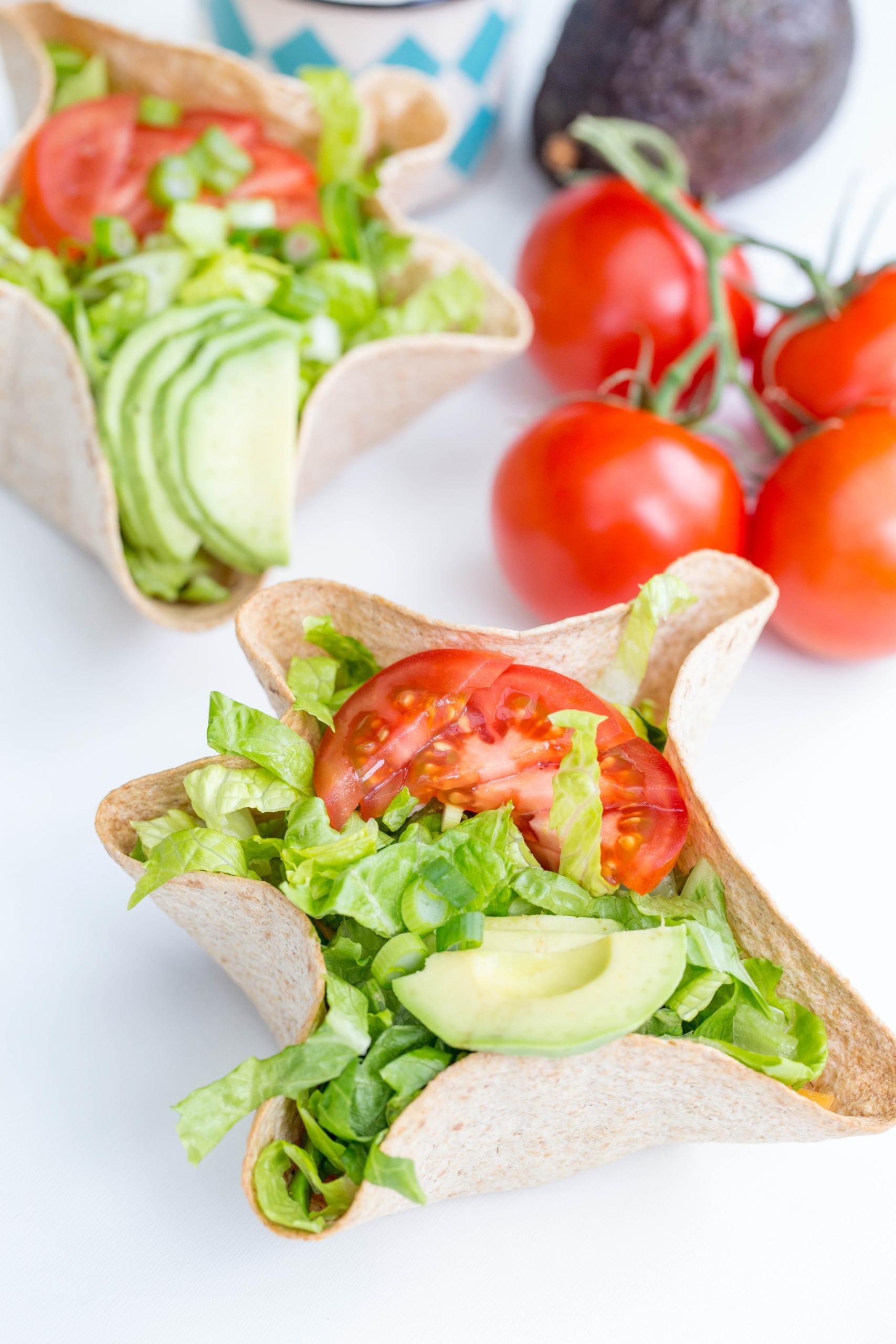 Tostada Salad on a plate