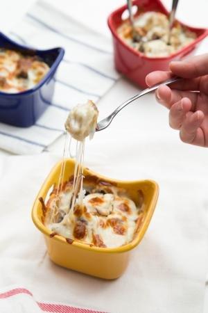 Dumpling Casserole in little bowls