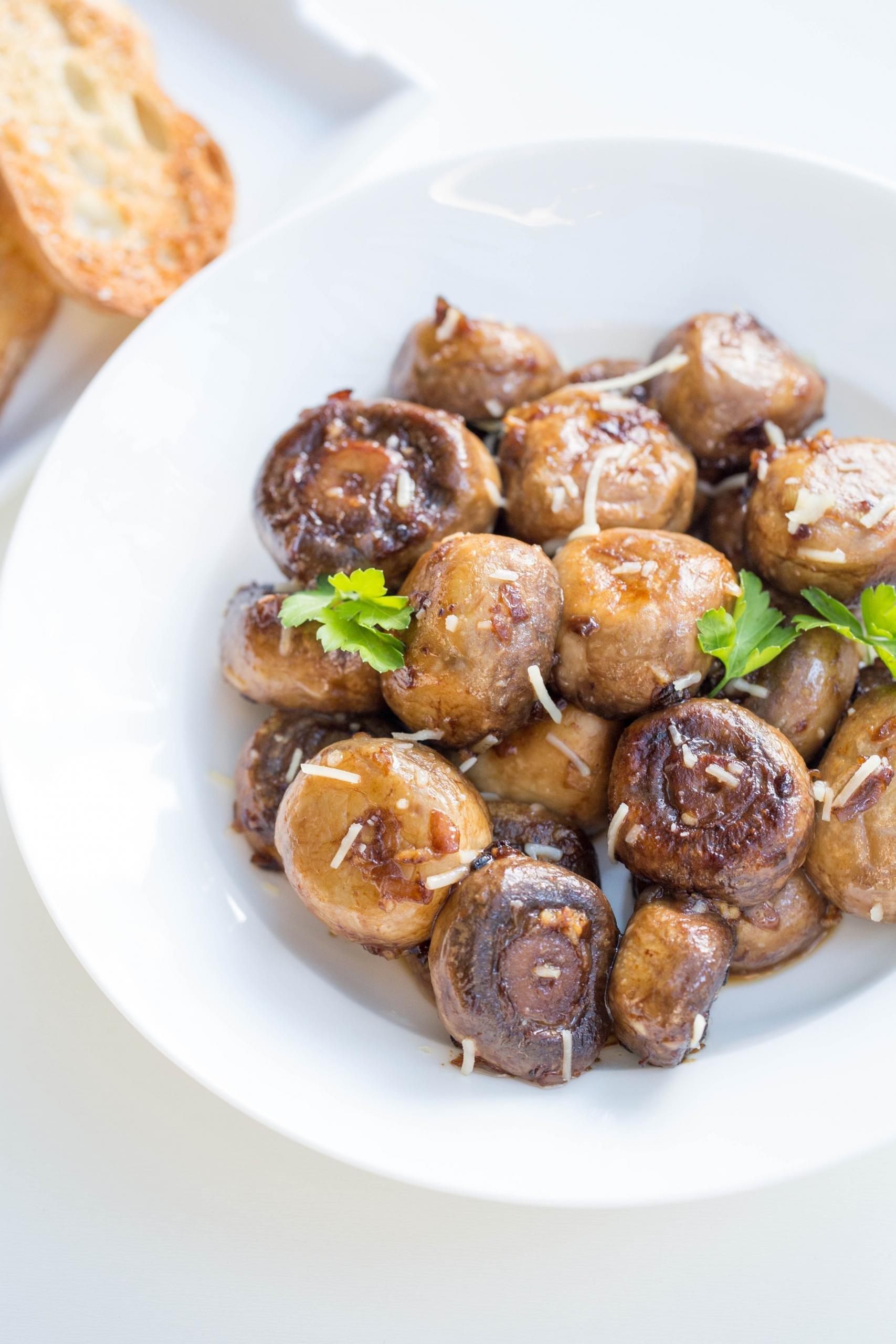 Sautéed Mushroom Appetizer in a bowl