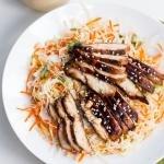 Sesame Chicken Salad on a plate