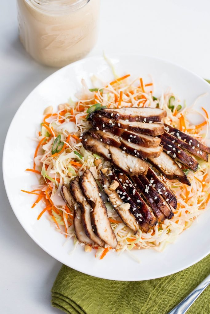 Sesame Chicken Salad on a plate