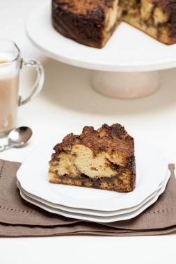 A slice of Coffee Cake on a plate