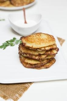 Potato Pancakes Recipe on a serving plate