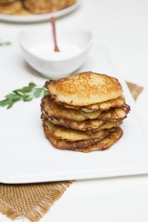 Potato Pancakes Recipe on a serving plate
