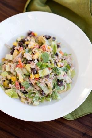 Mexican Tuna Salad in a bowl