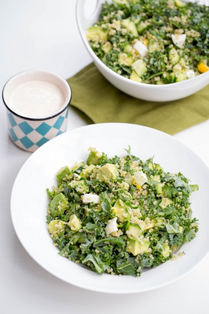 Superfood Quinoa Kale Salad in a bowl