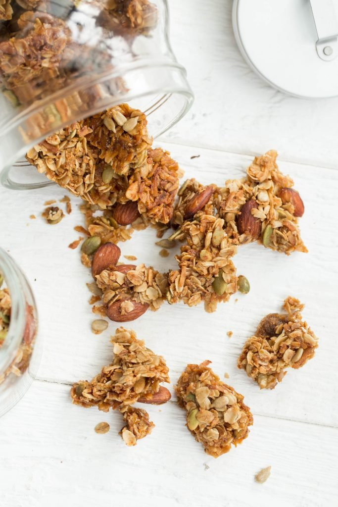 Coconut Granola Snack on a cutting board