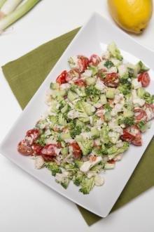 Broccoli Crab Salad on a plate