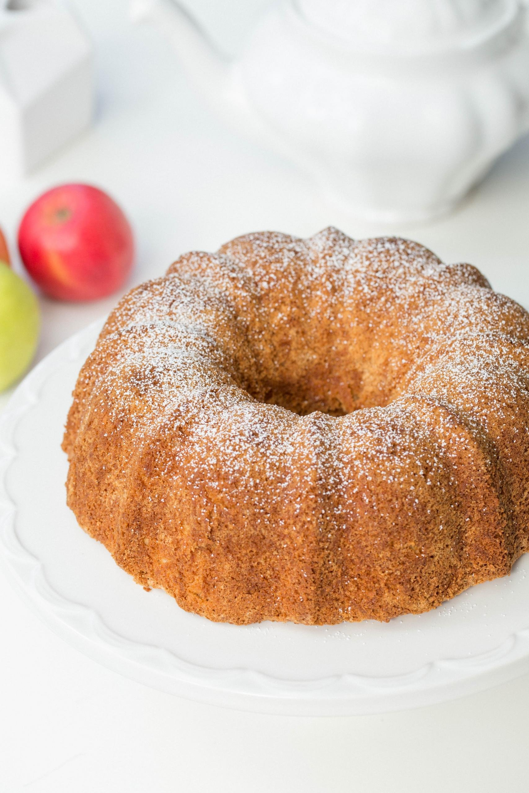 Apple Cake on a serving tray