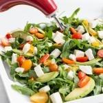 Arugula Caprese Salad on a plate