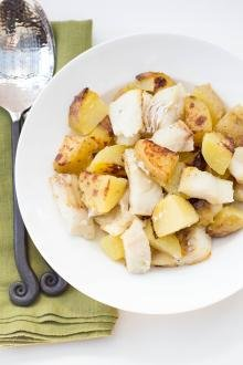 Potato and Cod in a bowl