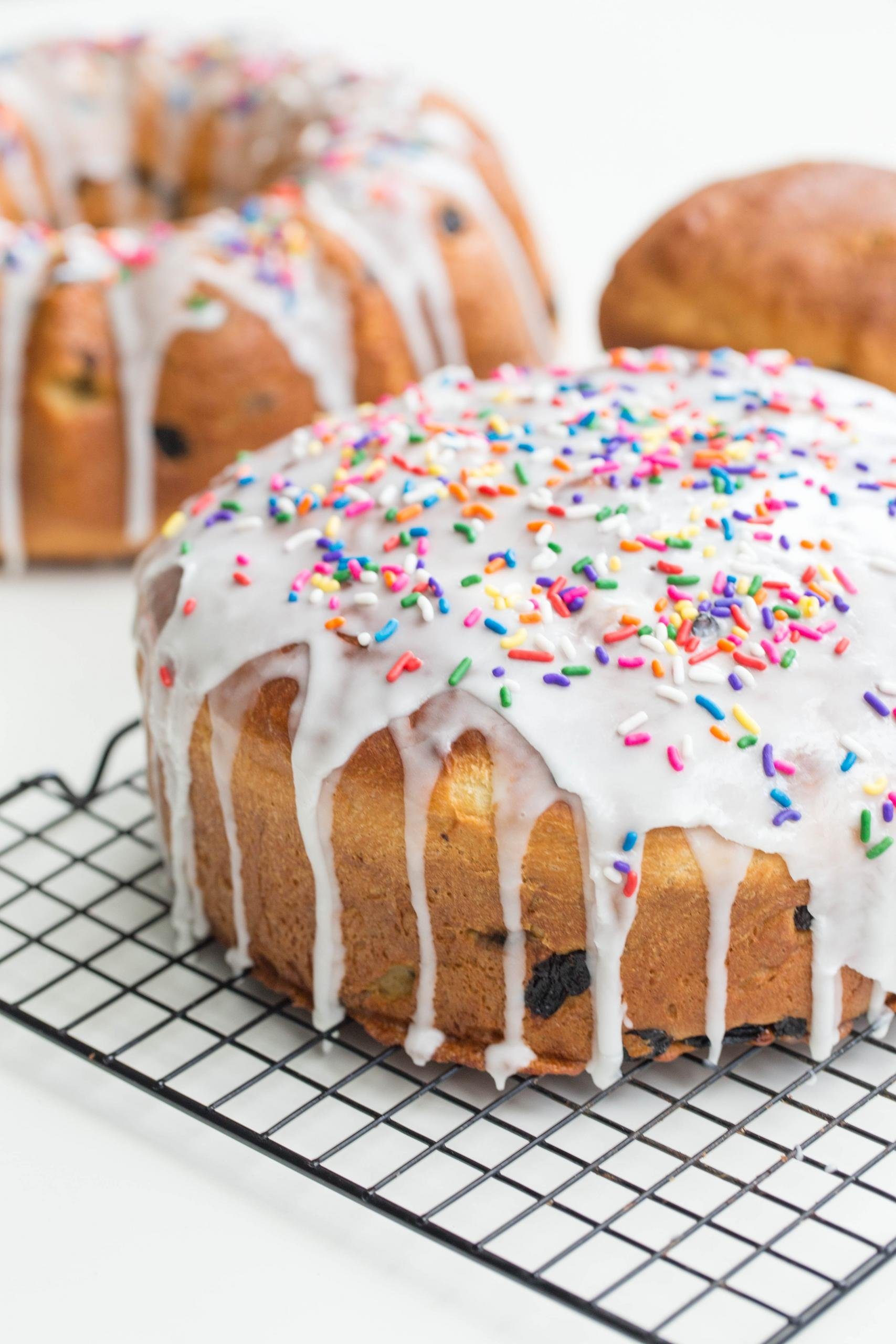Easter Bread on a cooling rack