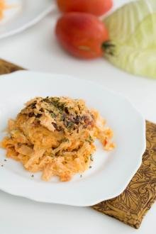 Lazy Cabbage Roll on a plate
