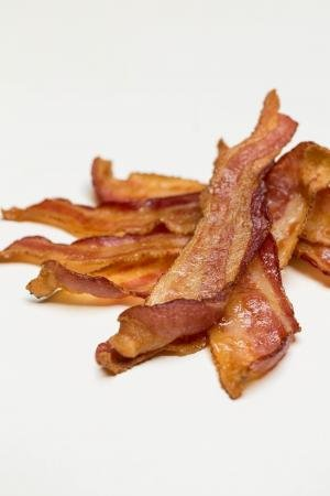 Bacon pieces on the table
