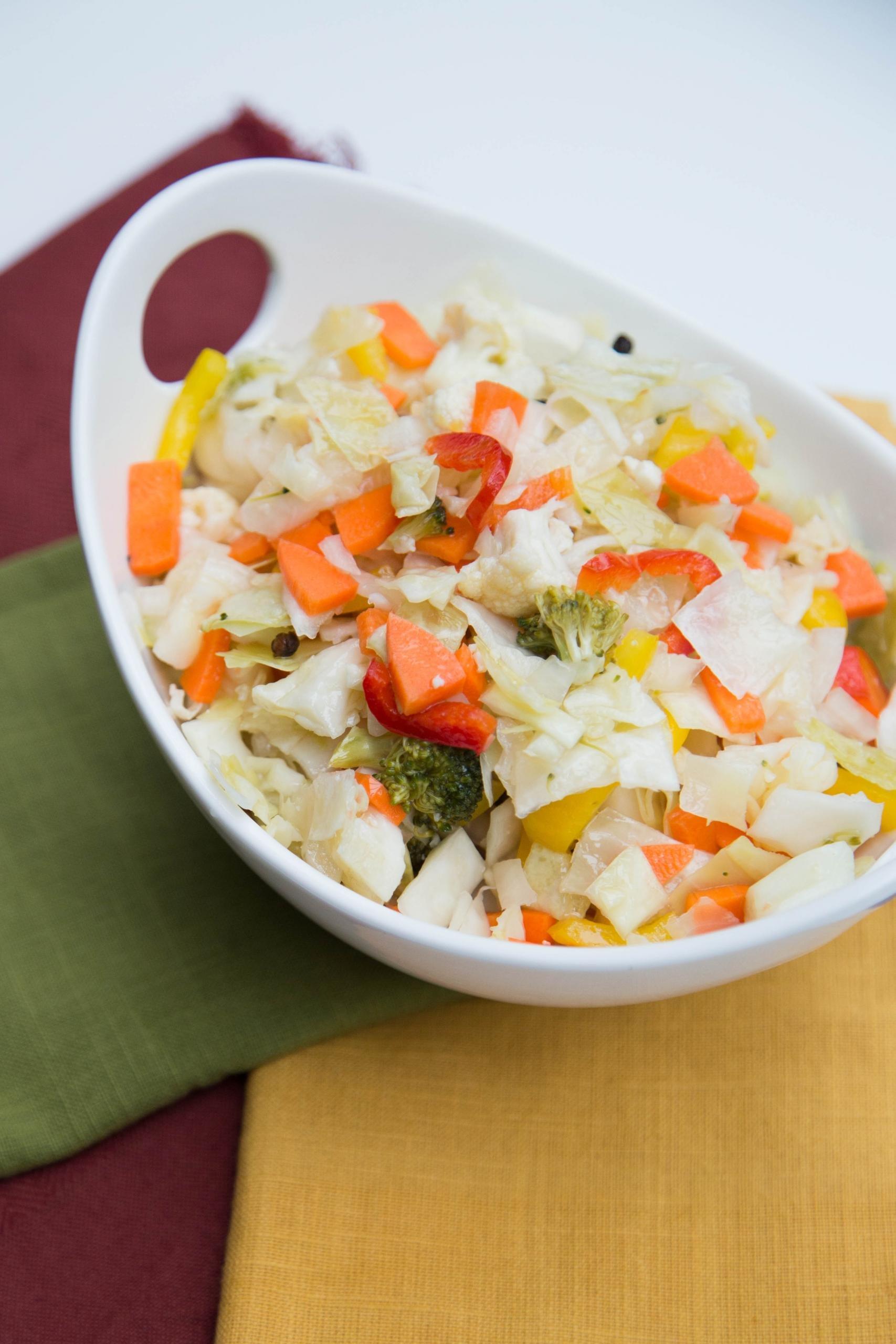 Pickled Vegetable Salad in a bowl