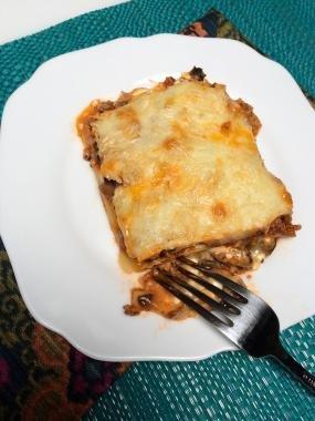 Mushroom Lasagna on a plate