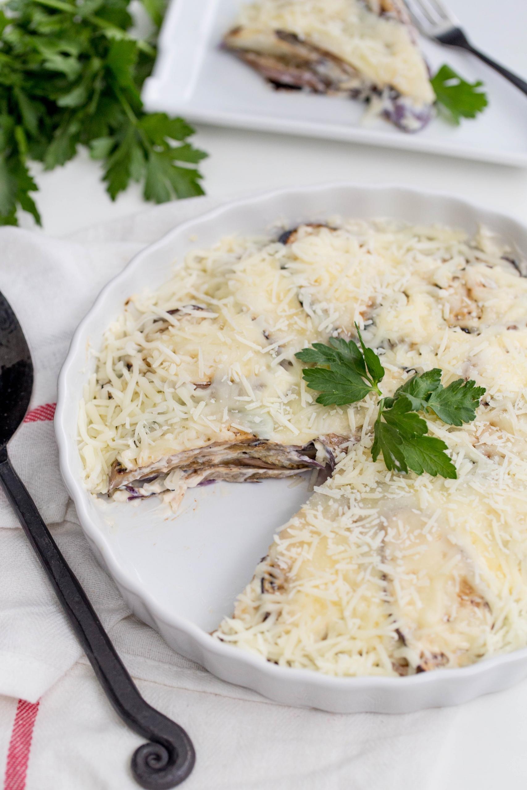 Garlicky Eggplant Platter