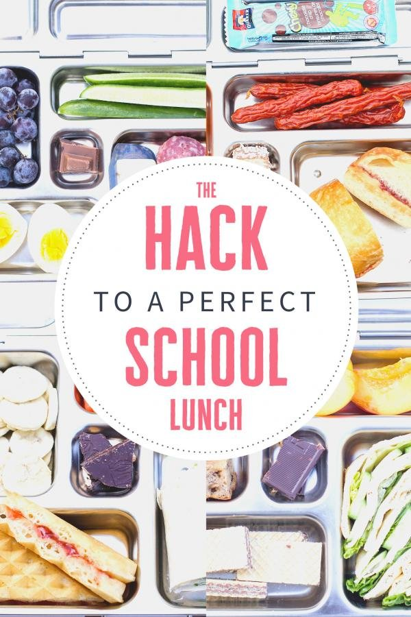 Perfect school lunch ideas, collage