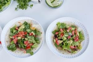 2 Tortilla Salads on plates