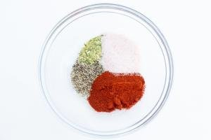 Dry seasoning all mixed together in one bowl
