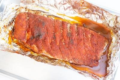 BBQ Ribs in foil