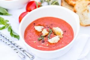 Tomato Basil Soup in a bowl