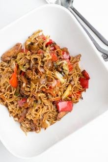 Yakisoba Noodles in a bowl