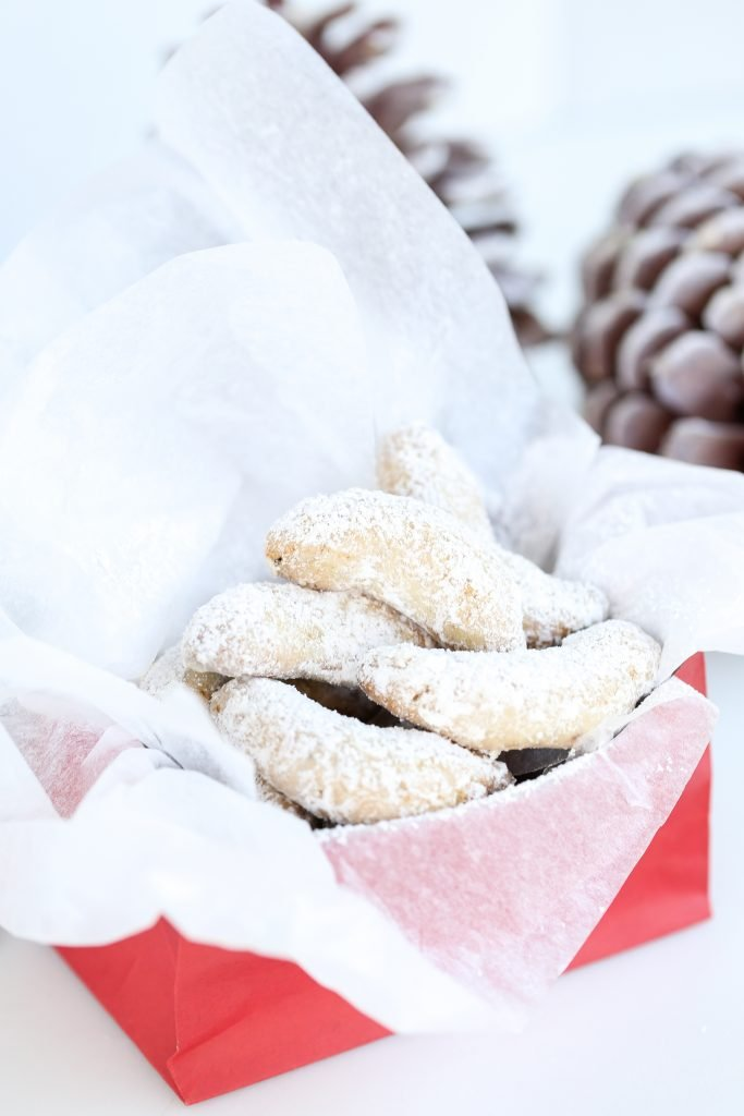 Cookies in a gift bag.