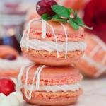 Two macarons on top of each other.
