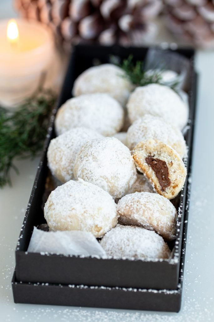 Nutella Stuffed Snowball Cookies Recipe Momsdish