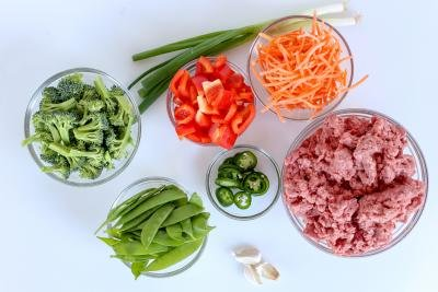 Ingredients for stir fry